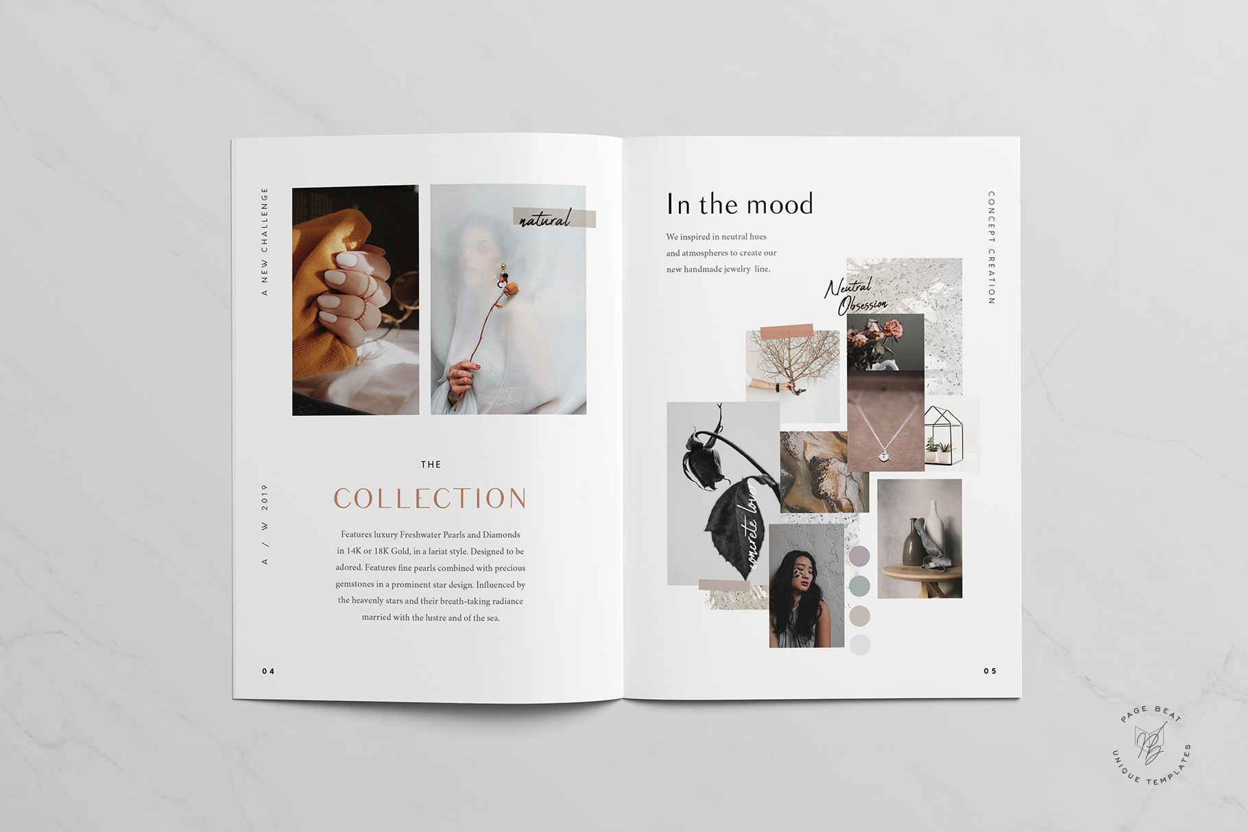 A5 Jewelry Accessories Fashion Lookbook Catalog Printable