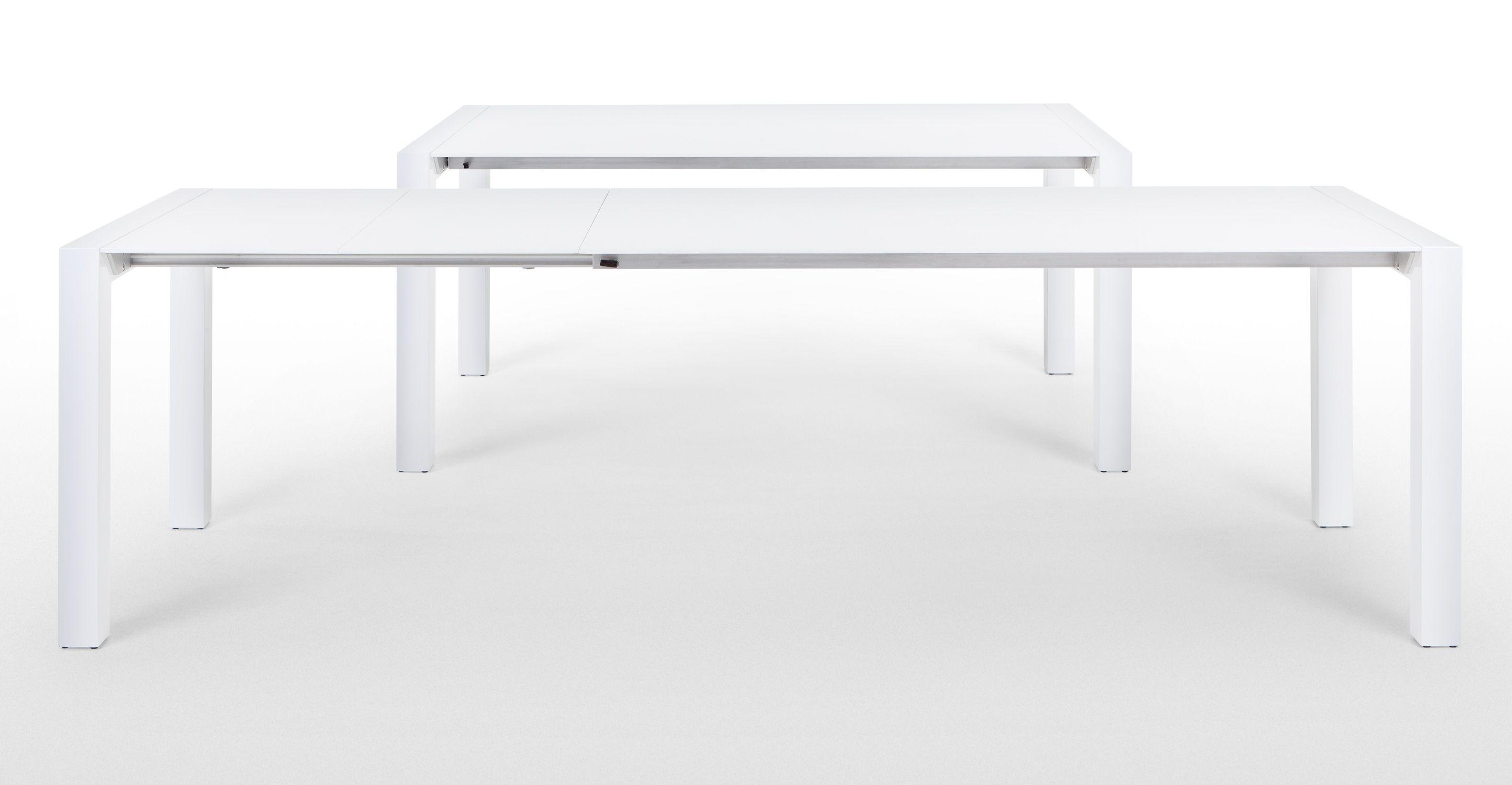 Bramante table  rallonges rectangulaire blanc