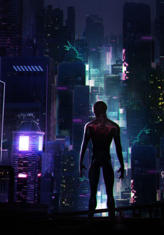Miles Morales Spider Man By Mizuri Official On Artstation Superhero Wallpaper Glitch Wallpaper Spiderman Art