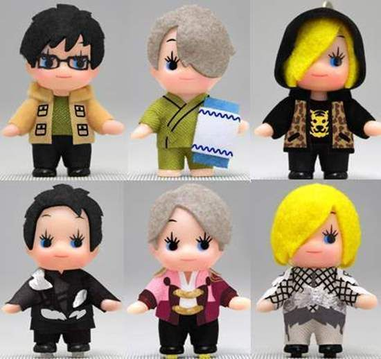 Yuri On Ice X Kewpie Doll Keychains SET Comes With All 6 Different
