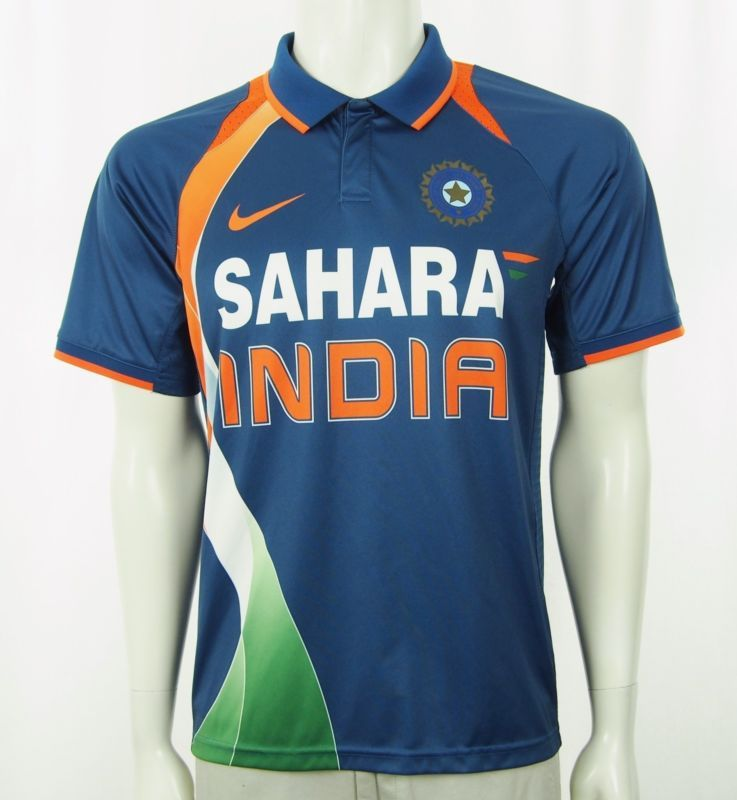 Nike Fit Dry Sahara India Cricket Team Athletic Jersey Sz