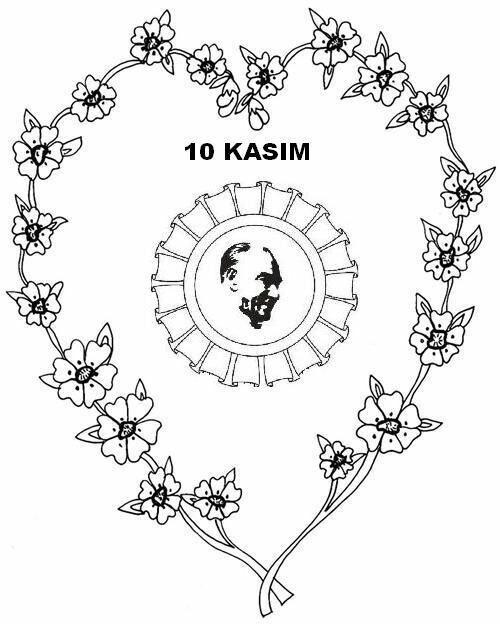 10 Kasım Boyama Resimleri öğrenciler Için Atatürk Coloring