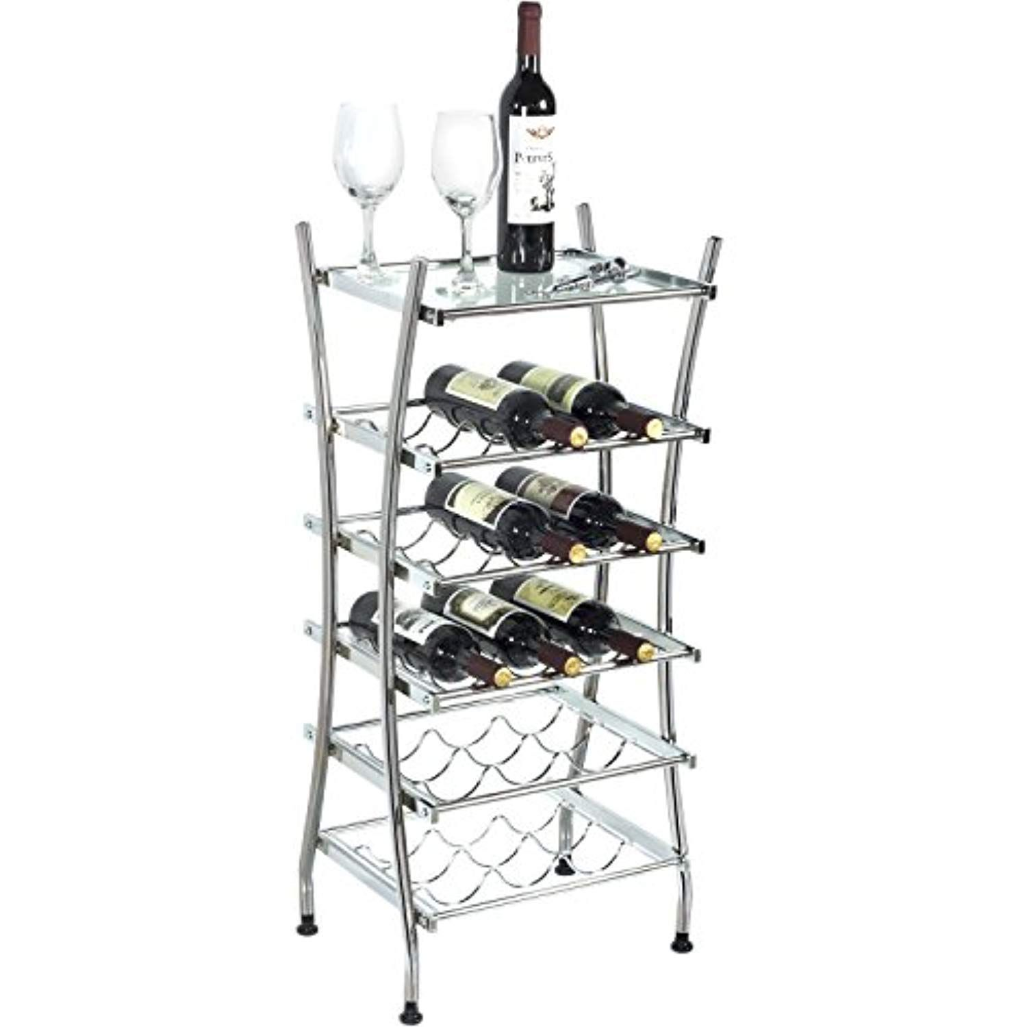 Modern Banquet Freestanding Wine Rack 15 Bottle Holder Stand With