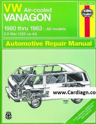 Free Download Vw Air Cooled Vanagon Haynes Repair Manual For 1980 Thru 1983 Pdf Scr1 Vw Vanagon Repair Manuals Repair