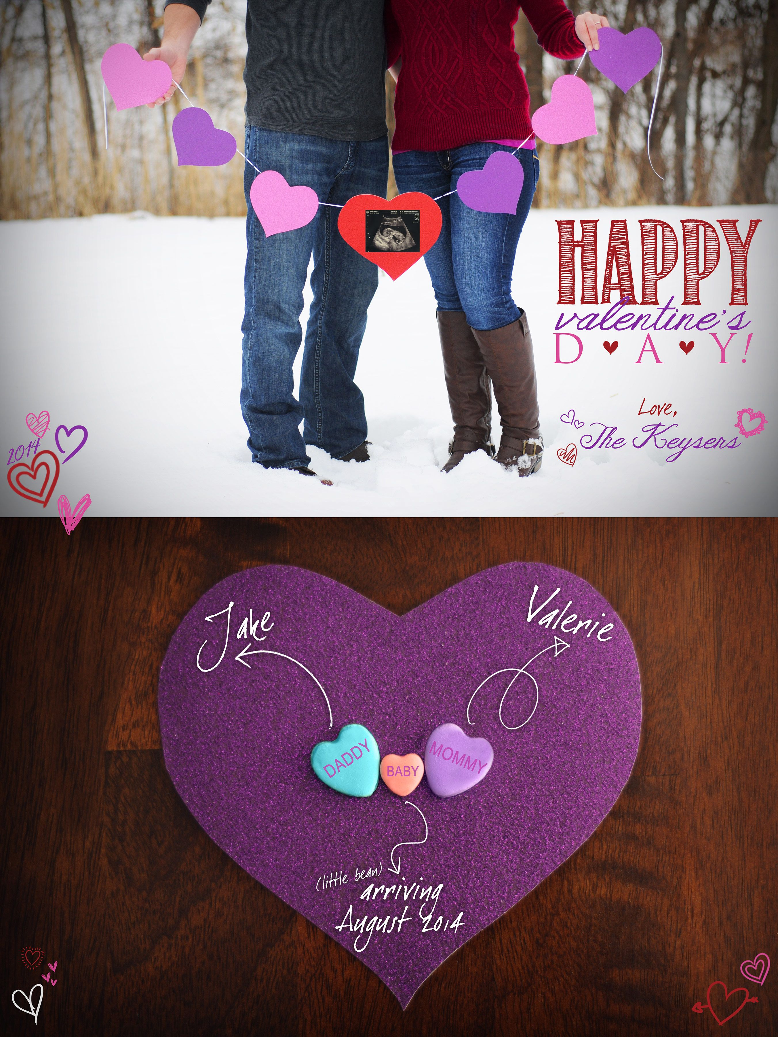 Valentine s Day Pregnancy Announcement So cute