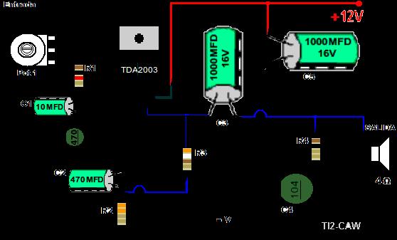 Circuito De Amplificador De Audio De 1000w Pdf : Dibujo del amplificador con tda electronica