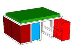 ikea hack aus dem kallax regal und der malm kommode wird ein bett mit unterbauschrank bo 39 s. Black Bedroom Furniture Sets. Home Design Ideas