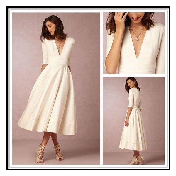 Fashion White In 2020 Short Wedding Dress Contemporary Wedding Dress Tea Length Wedding Dress