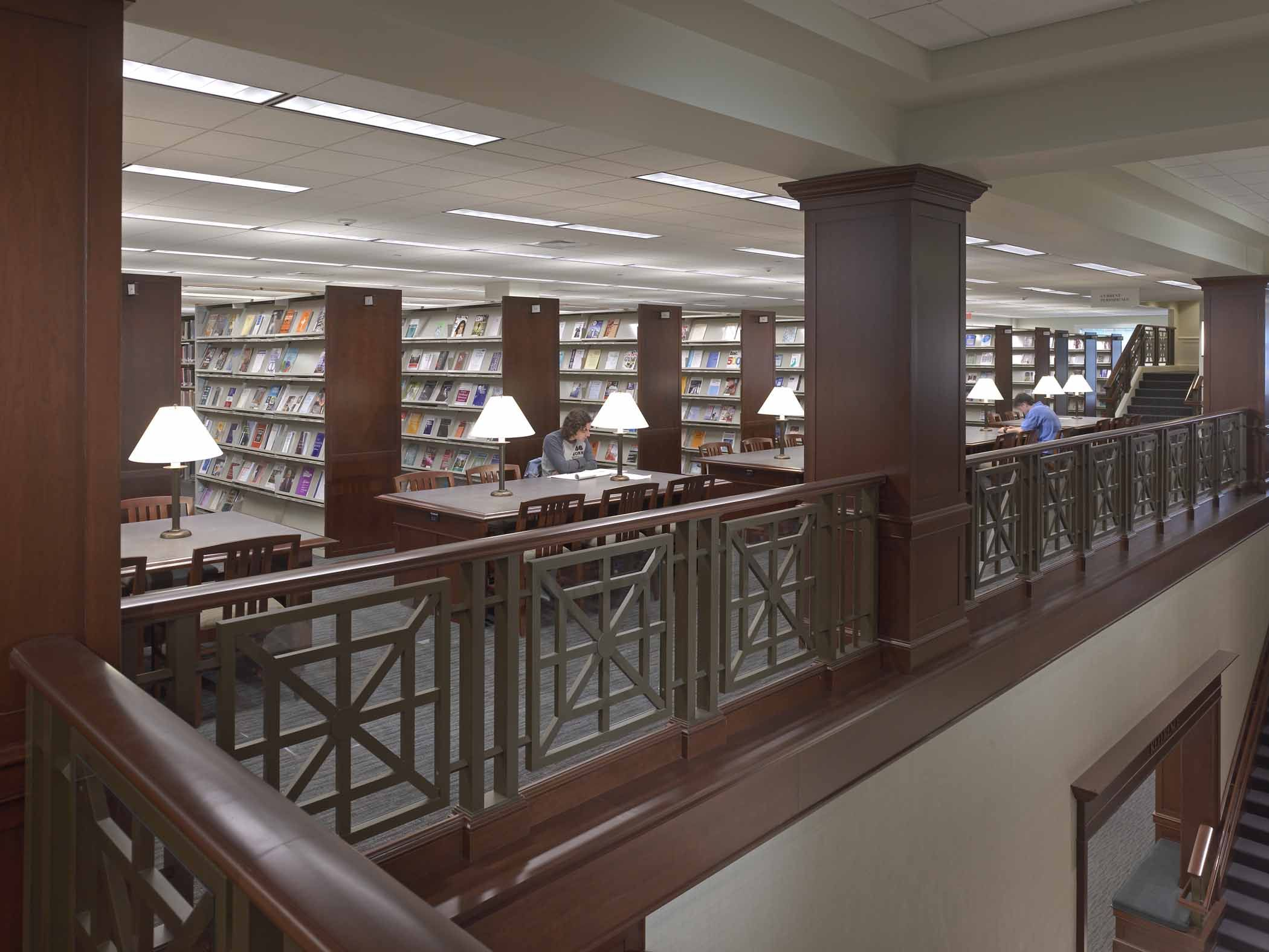 the college of new jersey library architecture interior design