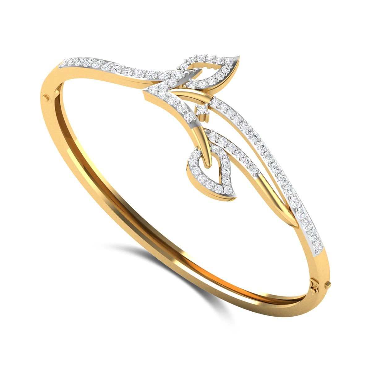 Broderick leafy openable diamond bangle bracelets pinterest
