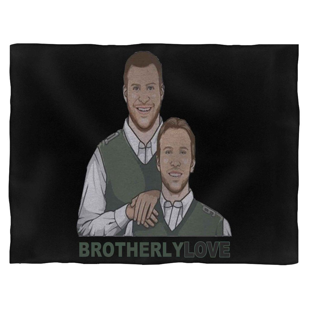 Philly S Carson Wentz And Nick Foles Inspired Brotherly Love Blanket