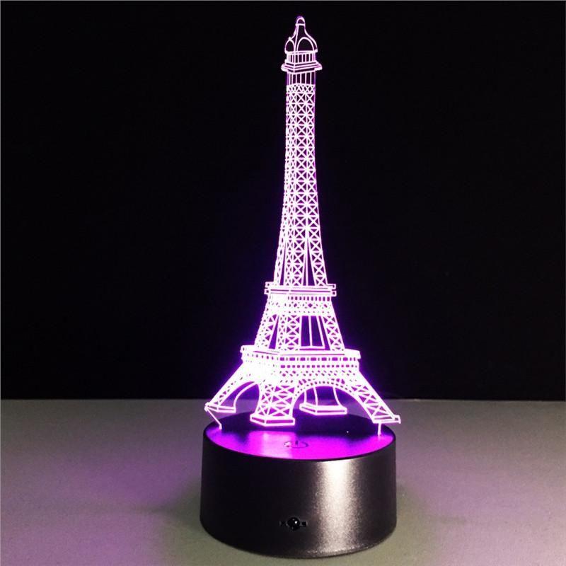 3d Eiffel Tower Lamp 3d Led Night Light Color Changing Lamp Night Light Lamp