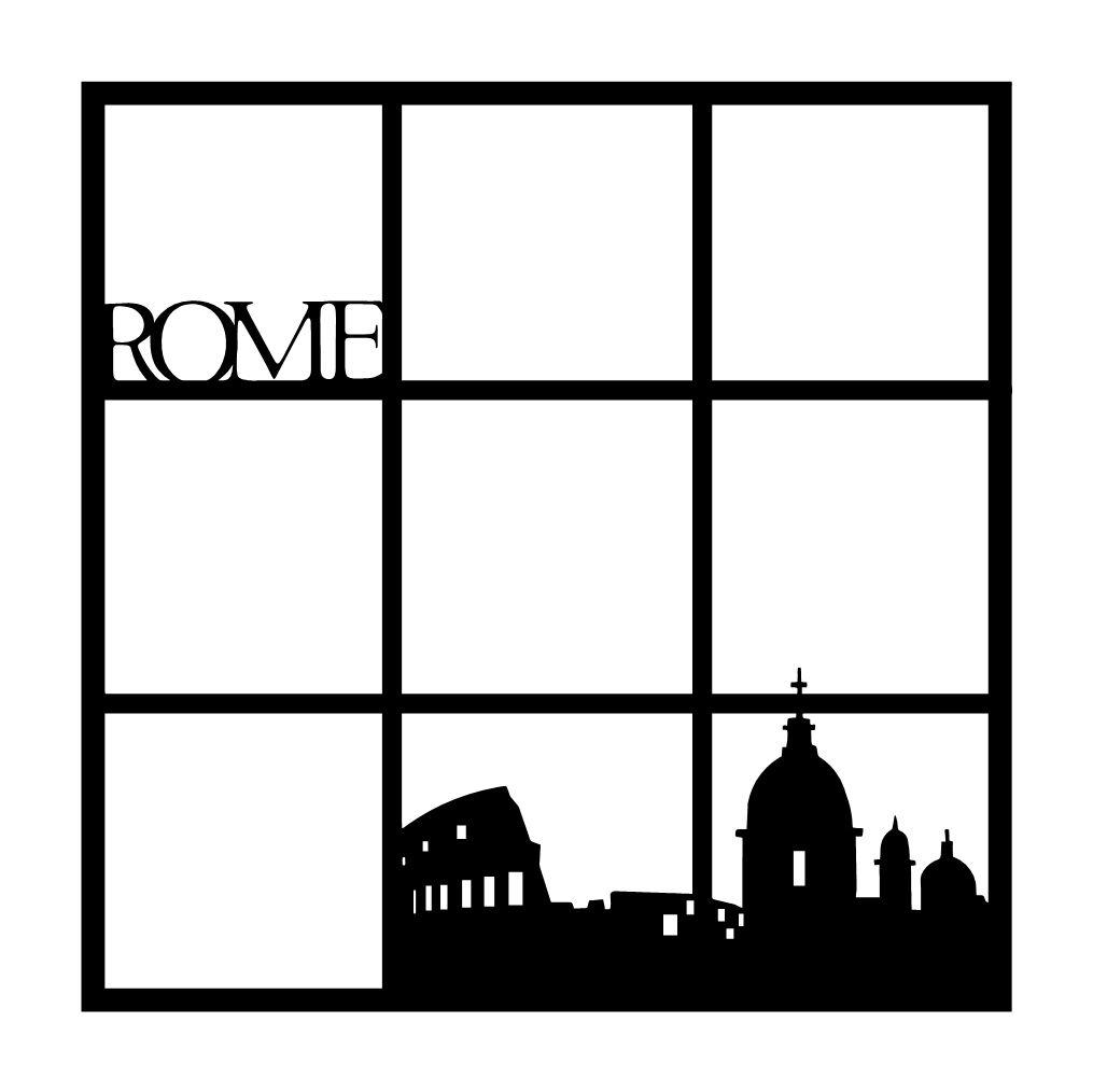 Europe scrapbook ideas - Rome Italy Scrapbooking Die Cut Overlay