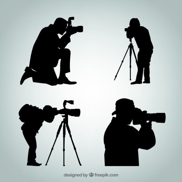 Silhouettes Of Photographer Silhouette Photographer Silhouette Vector