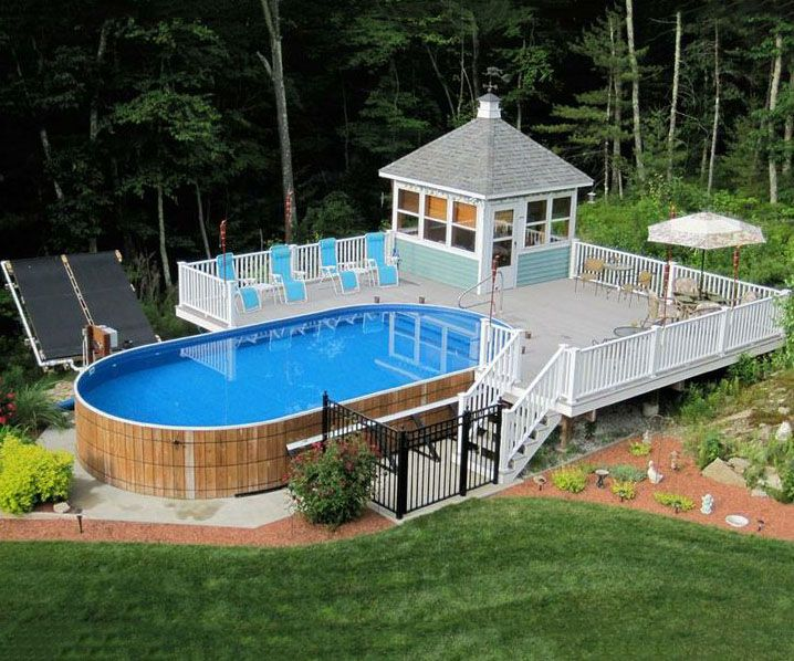 40 uniquely awesome above ground pools with decks - Above Ground Pool Deck