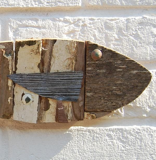 Wall Art Wood Fish : Wooden fish fishing boat white art wall