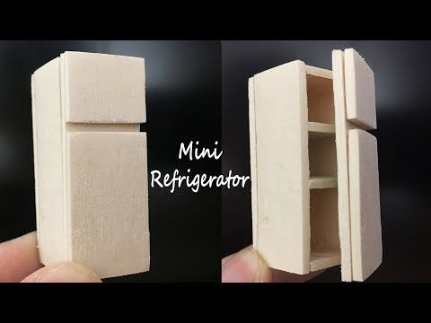 How To Make Popsicle Stick Miniature Refrigerator,