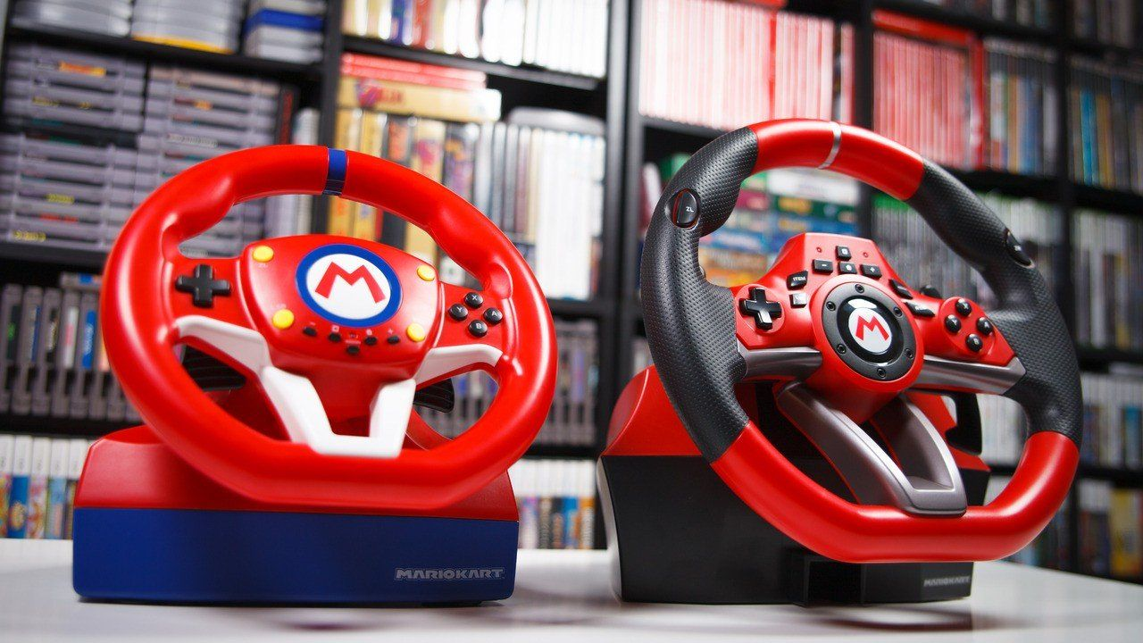 Video Another Look At Nintendo Switch S Officially Licensed Mario Kart Steering Wheels In 2020 Mario Kart Steering Wheel Mario