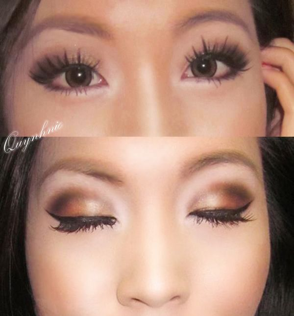 Smokey Golden Bronzy Brown For Monolid Eyes Make Up Looks