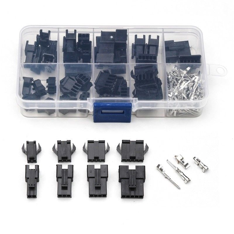 Dupont 2 54mm Connector Housing Wire Pin Crimp Kit Set Pcb Headers Jumper New Unbranded Cable Plug Wire Connectors Plugs