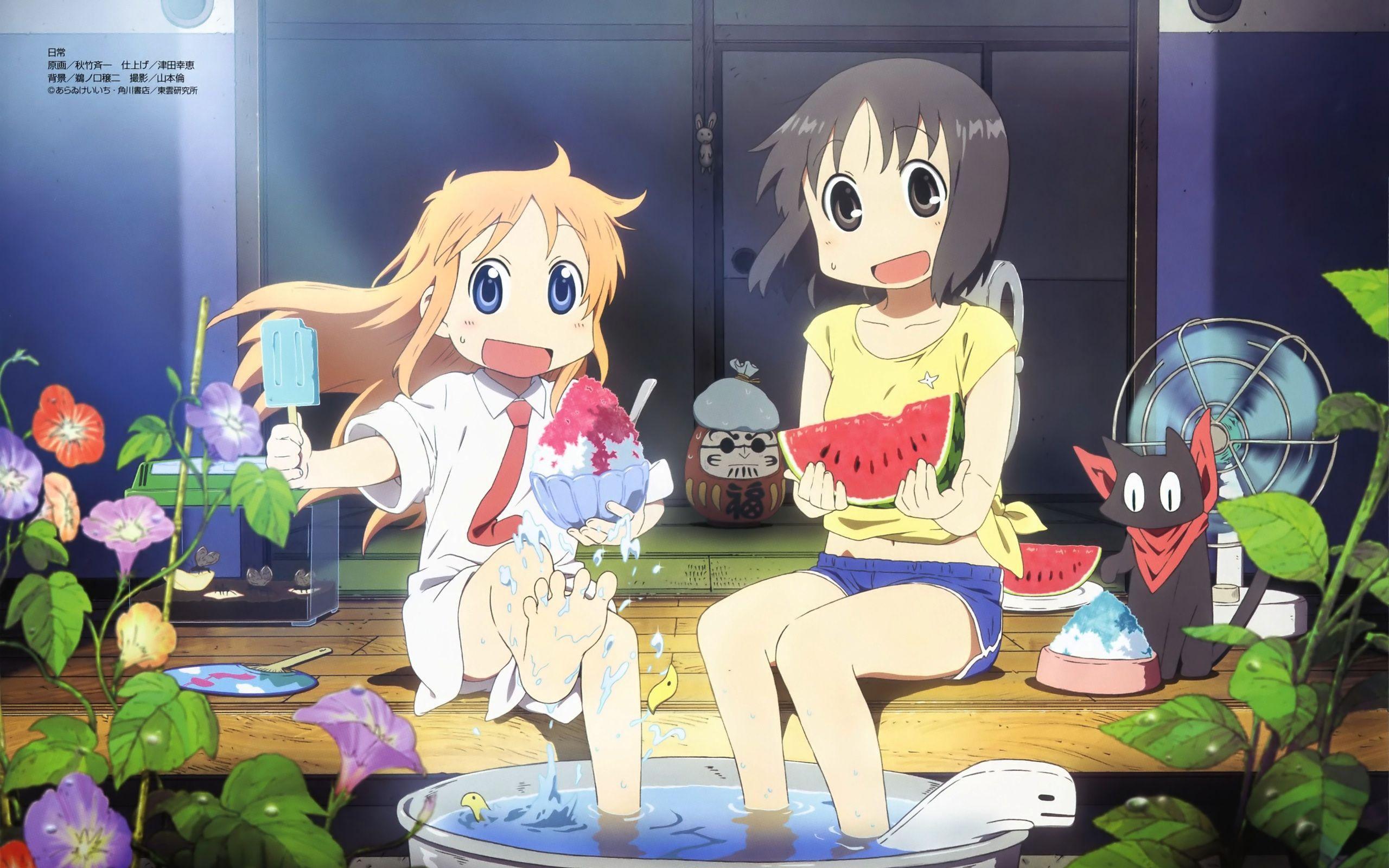 Nichijou nichijou anime anime wallpaper