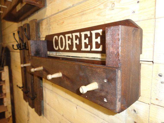 pallet coffee rack