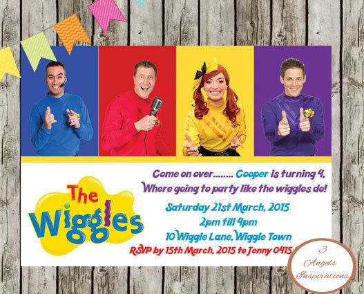 Wiggles Birthday Invitation Print Your Own By 3angelsinspirations