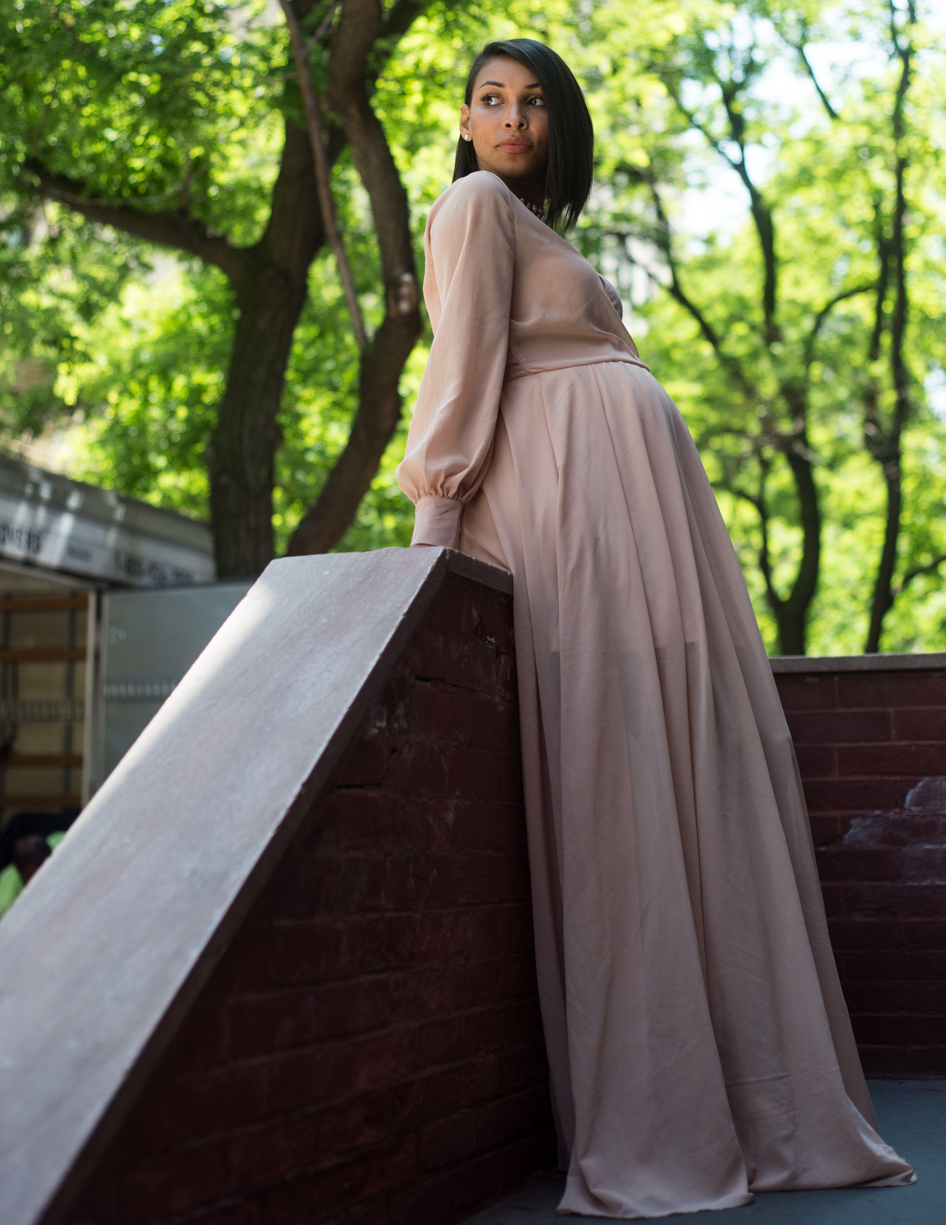 Floor Length Chiffon Dress