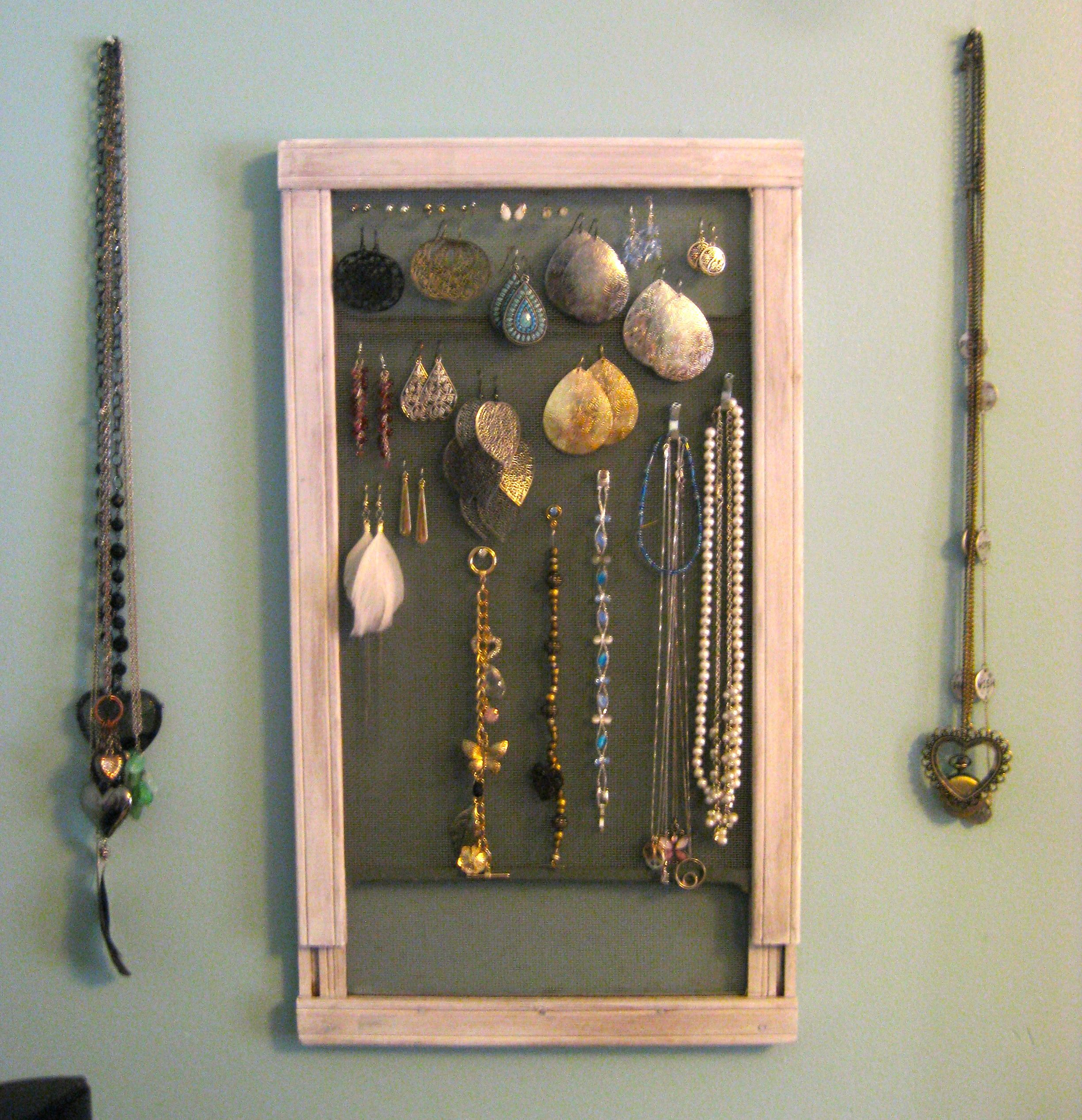 Pegboard Jewelry Display