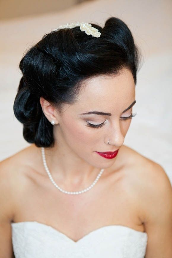 1940s evening look | 1940s hairstyles, 1940s makeup