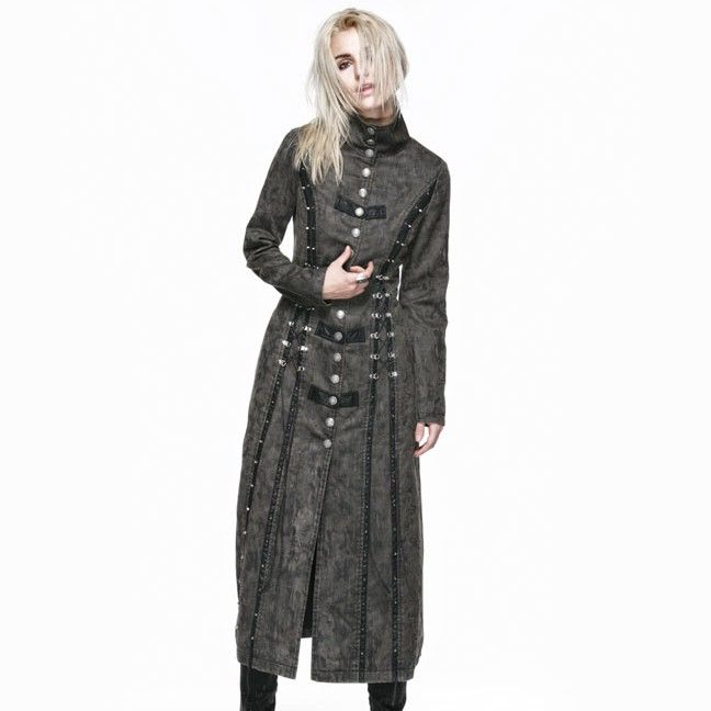 steampunk executioner   Steampunk Executioner Women's Grey Trench Coat [Special Order]
