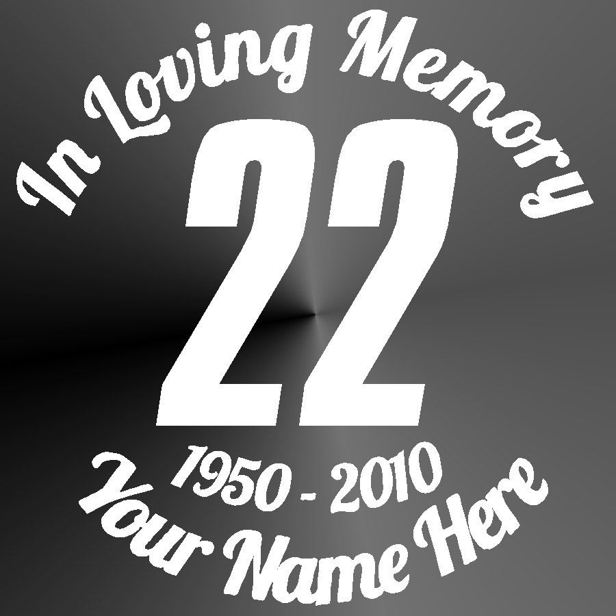 Memorial decal sticker cut vinyl car truck jeep race car number racing car window memorial decal by stickitupvinyl on etsy