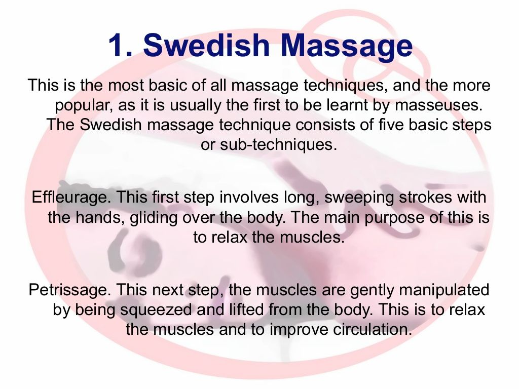 1 Swedish Massage This Is The Most Basic Of All Massage -4958