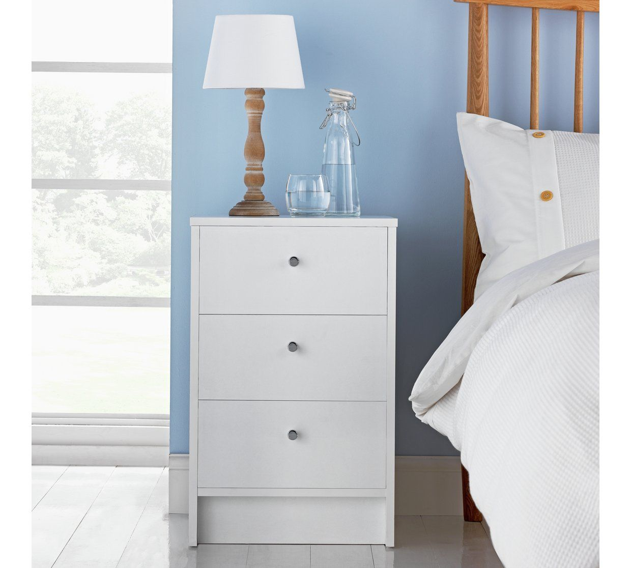Buy Argos Home Malibu 3 Drawer Bedside Table White Bedside Tables Argos White Bedside Table Argos Home White Bedside Cabinets