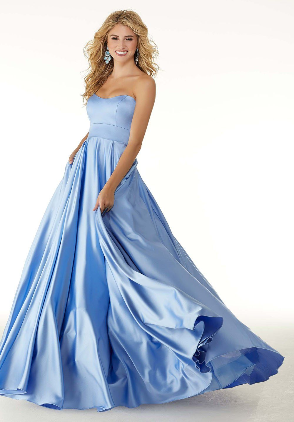 Morilee 45090 Dress Satin Dress Long Prom Dresses Ball Gown Prom Dresses [ 1434 x 1000 Pixel ]