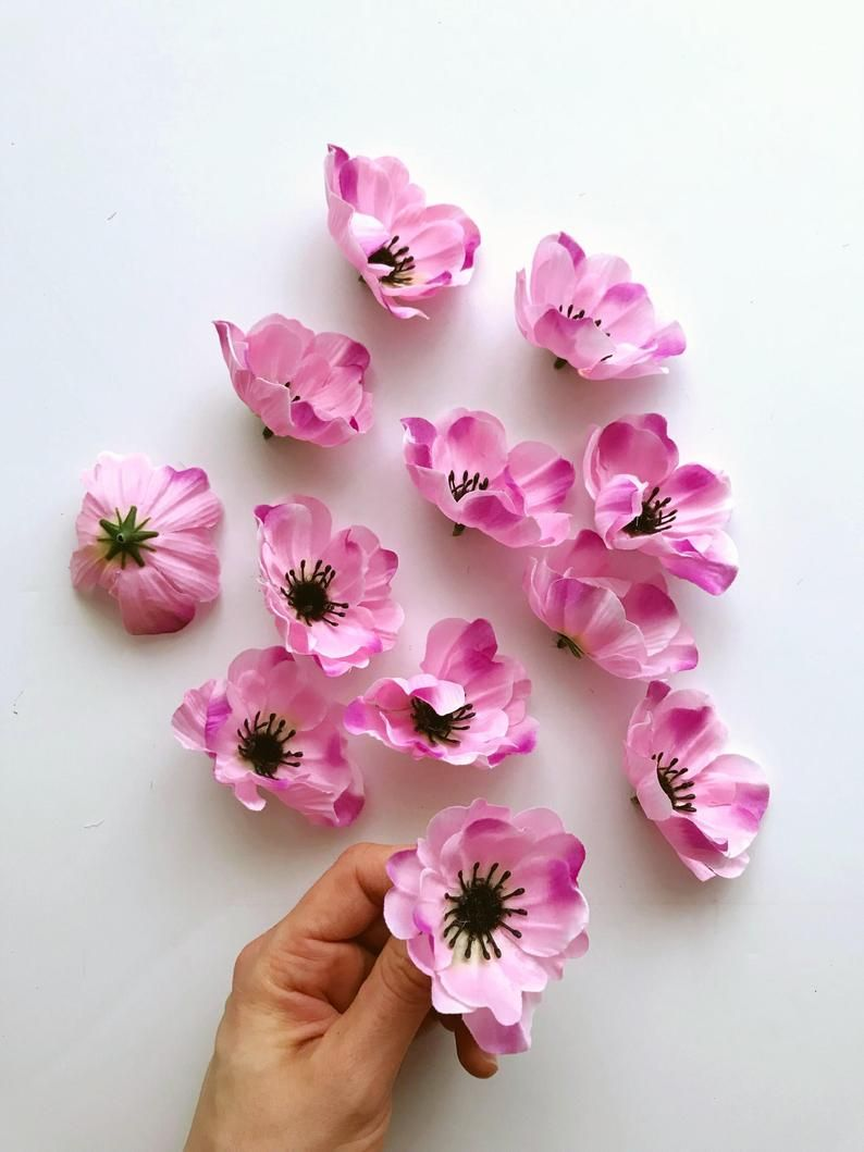 12 Pieces Light Pink Anemone Heads Artificial Flowers Anemones Anemone Flowers Artificial Flower Head Set 8 Cm 3 2 Head Flower Crown In 2020 Anemone Flower Artificial Flowers Anemone