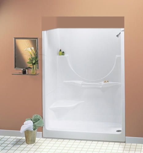 2 piece tub shower. Maax  60 Allegro II 2 Piece Shower LH Seat No Roofcap RH Drain