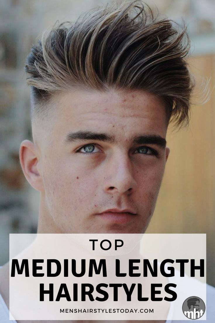 medium length hairstyles for men hair pinterest hair