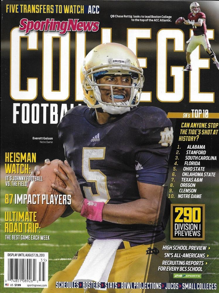 Sporting News College Football magazine Impact players Rosters Stats