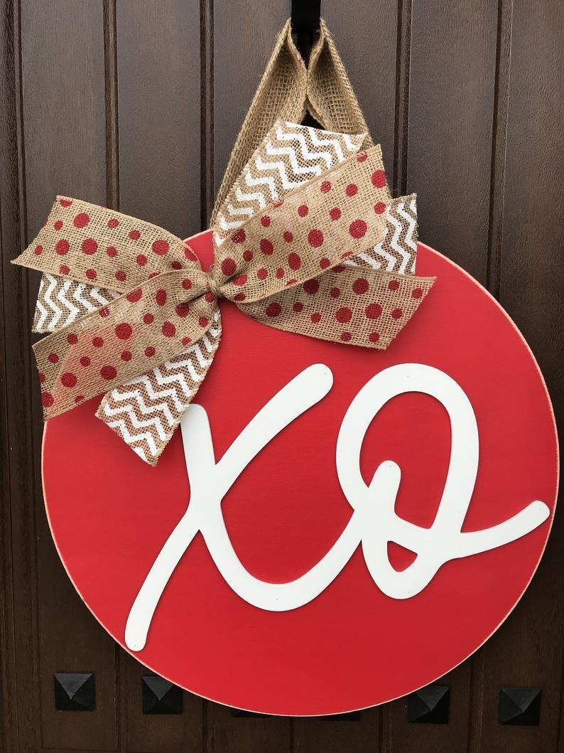 Xo Door Hanger Valentine S Wreath Valentine S Day Door Hanger Valentine S Day Door Decor Xoxo Sign Red And White Valentine S Decor Valentines Door Hanger Diy Valentines Decorations Valentine Decorations