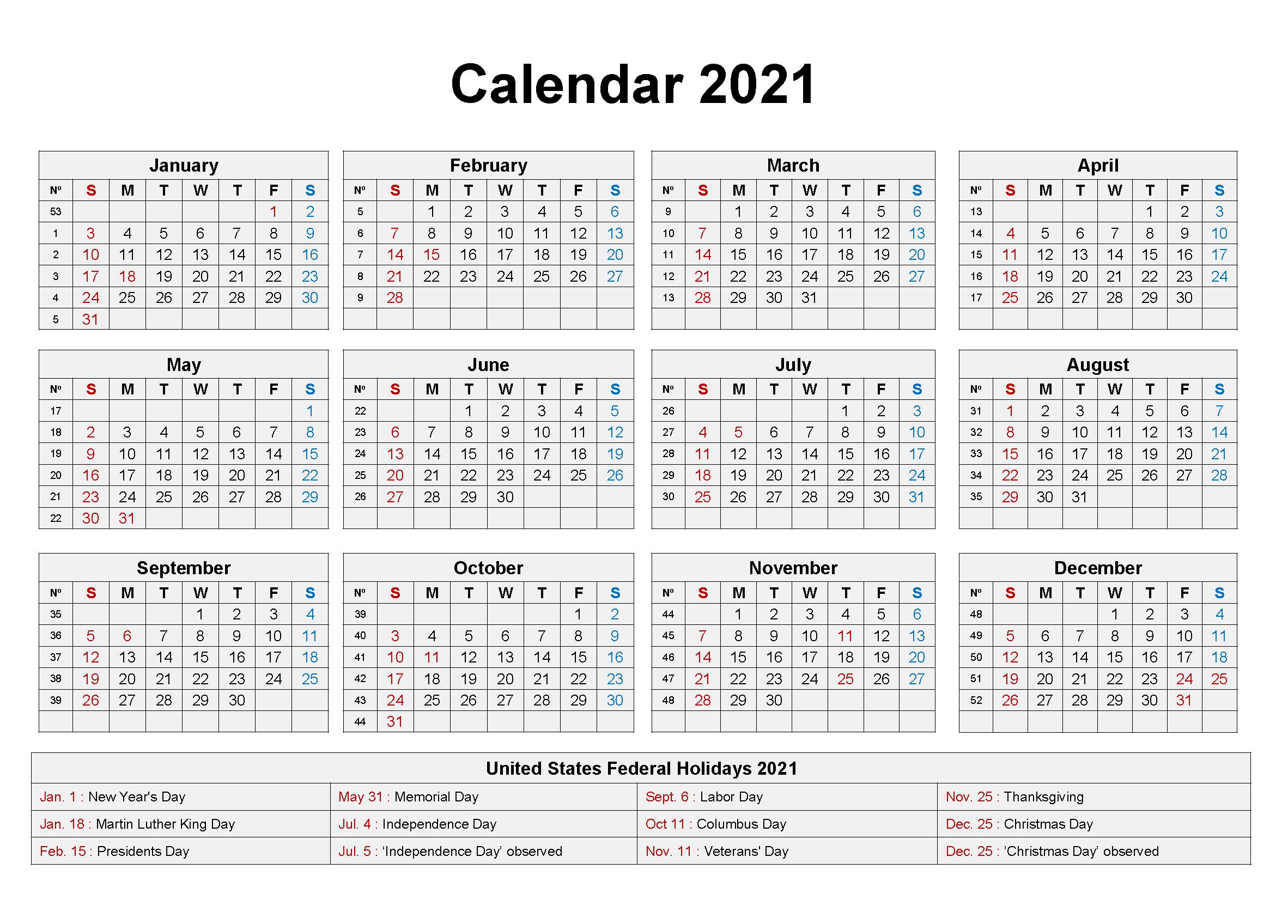 Blank 2021 Holidays Calendar In 2020 2021 Calendar Holiday Calendar Calendar