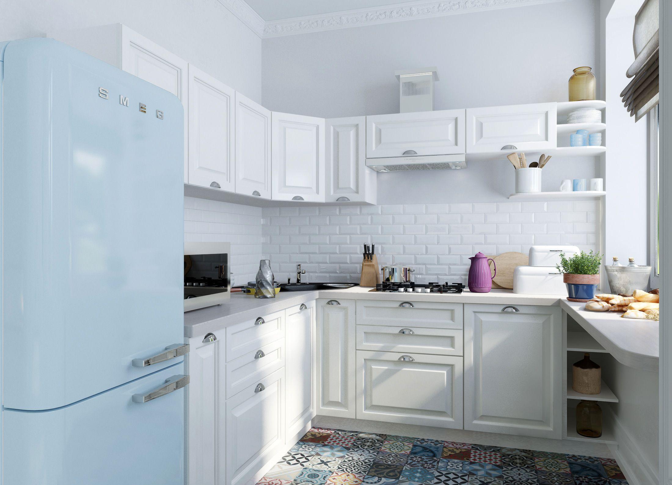 cocina blanca suelos ceramica | Diseños de cocinas | Pinterest ...