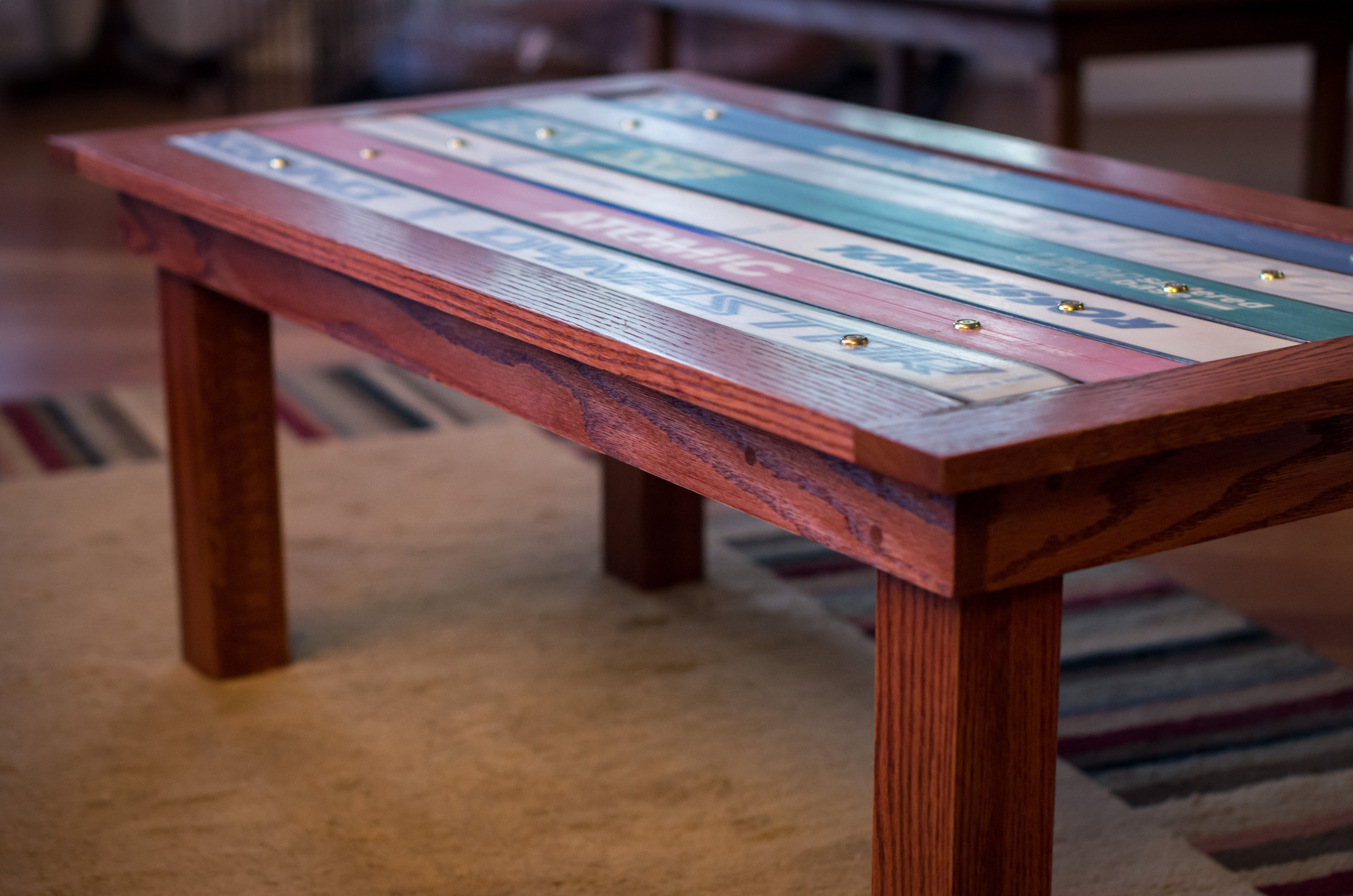 Coffee Table With Ski Top