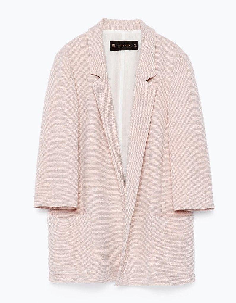 Blazer rose pâle Zara | Blazer rose, Veste rose et Zara