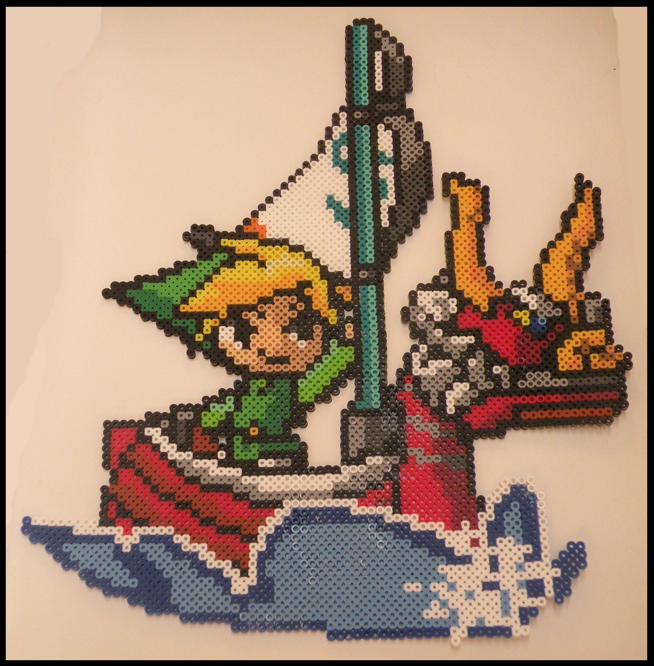 Legend Of Zelda Wind Waker Link Perler Bead Sprite By