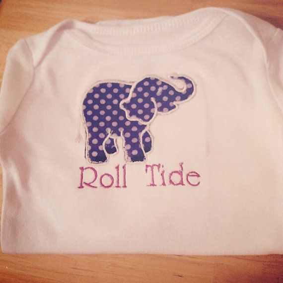 Roll Tide Applique Onesie from SewShea on Etsy