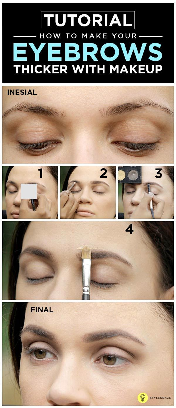 How To Fill In Your Eyebrows And Make Them Look Thicker Makeup