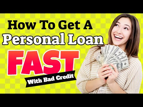 13 How To Get A Personal Loan Fast With Bad Credit Fast Approval Youtube V 2020 G