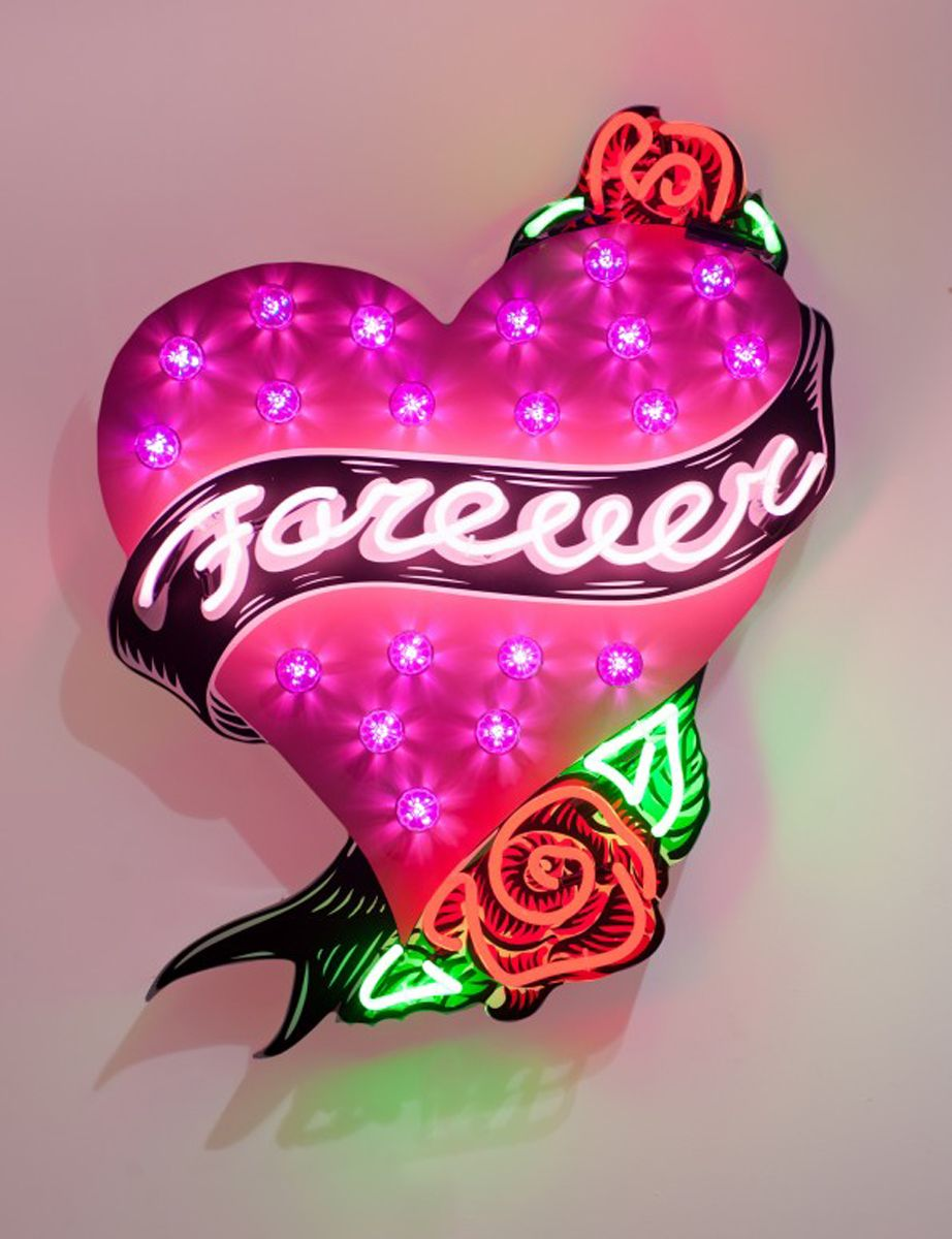 Forever in My Heart by Chris Bracey. Beautifully Kitsch Neon Art http://sulia.com/my_thoughts/8e32cf92-53dd-4388-865c-052dba1571a6/?pinner=124969623&