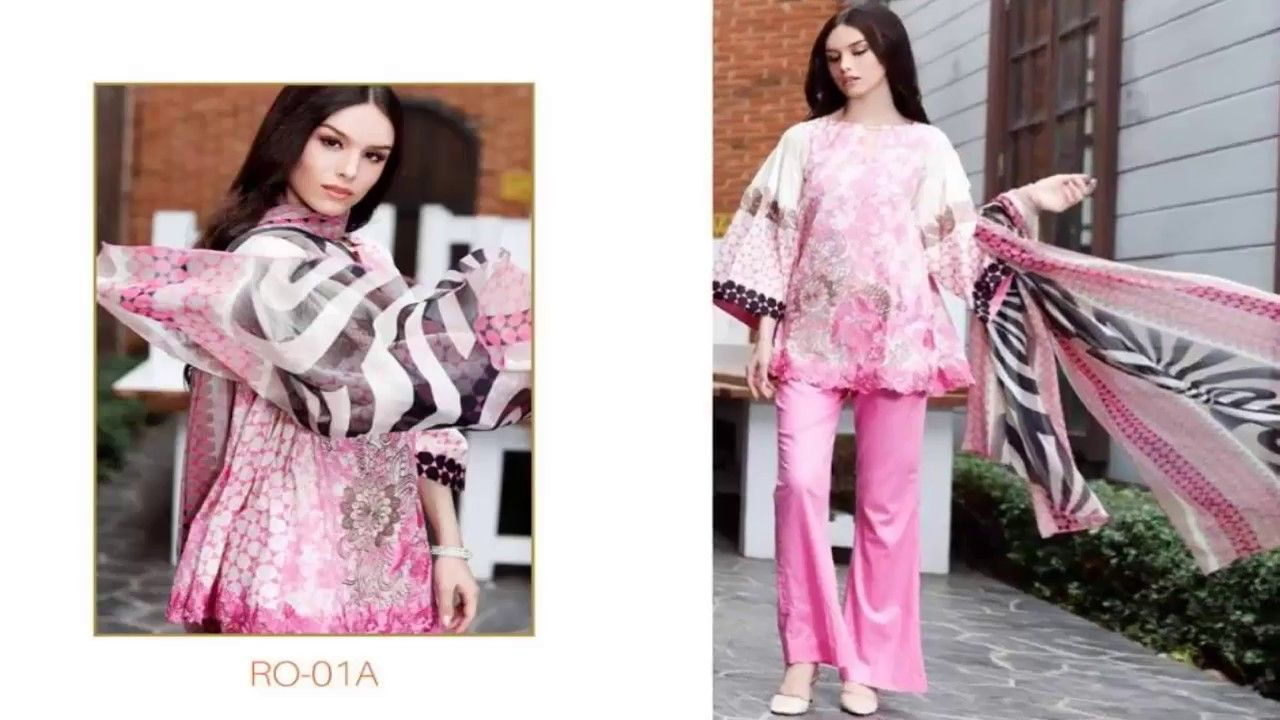 Warda spring summer collection 2016 vol 1 with prices beststylo com - Riaz Arts Spring Summer Orange Series Collection 2017 Vol 1